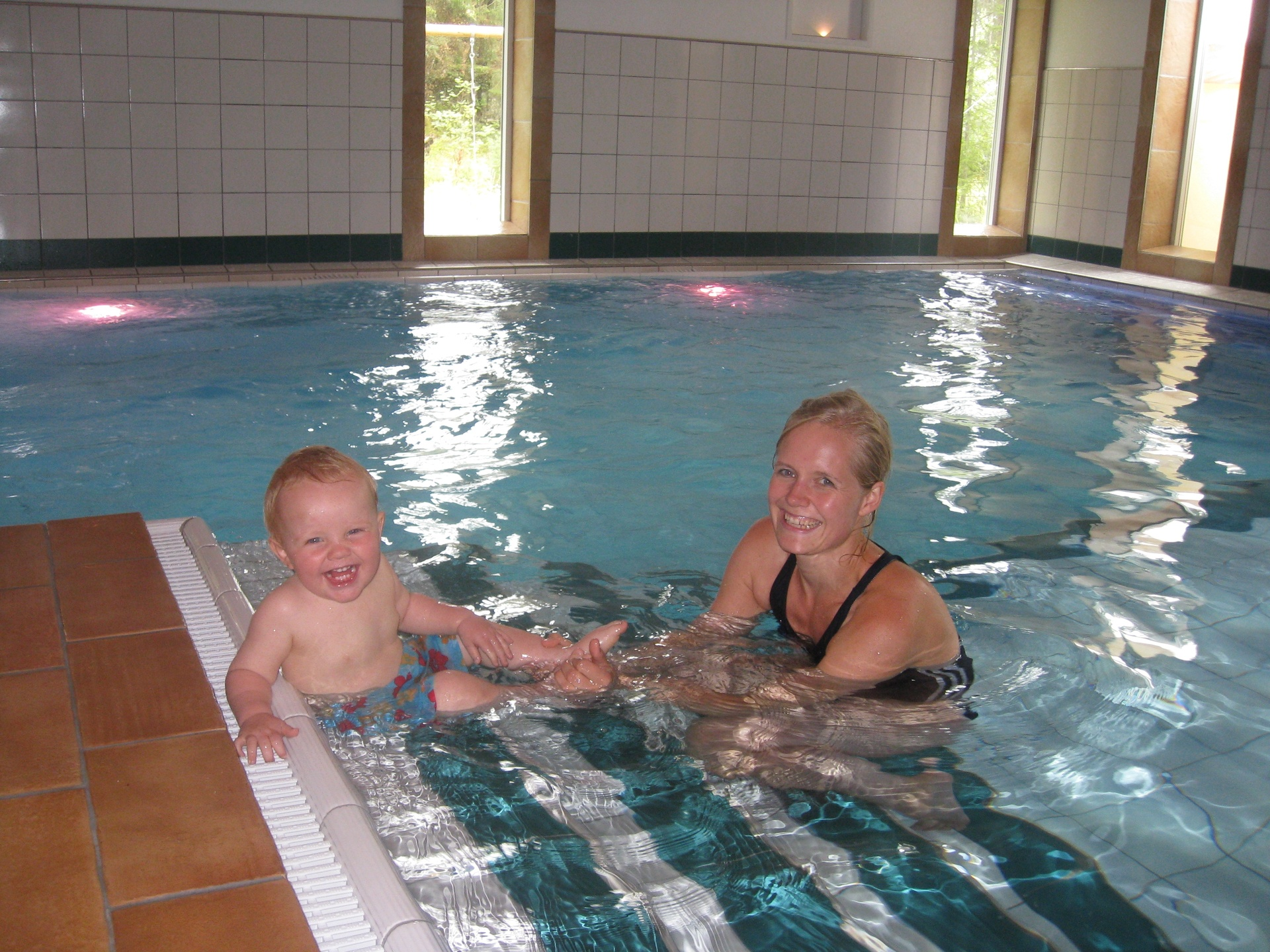 Godt i varmt basseng